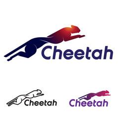 abstract cheetah icon vector image
