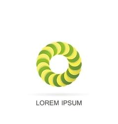 Abstract circle logo vector image