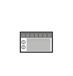 Air conditioner linear icons vector