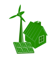 alternative energy house vector image