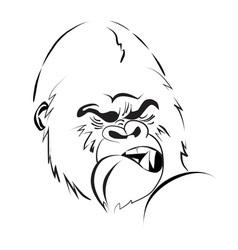 Angry gorilla logo vector