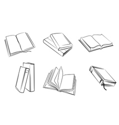 Books set vector