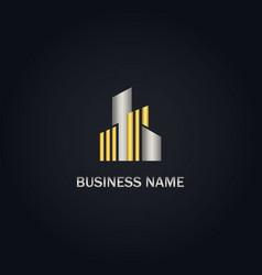 building gold logo vector image