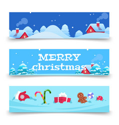 christmas banners x-mas background with vector image