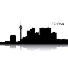 Cityscape of tehran vector