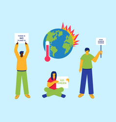 Climate change concept vector