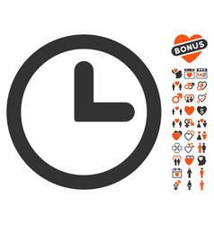 Clock icon with dating bonus vector