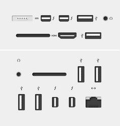 Computer connectors vector image