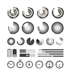 Different chart and indicators collection vector