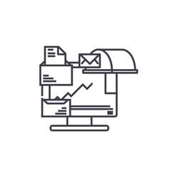 Document management linear icon concept document vector