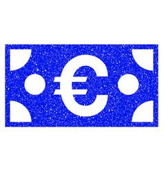 euro banknote grunge icon vector image