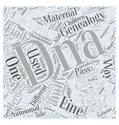 family find genealogy heritage Word Cloud Concept vector image