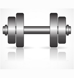 Flat barbell graphics with metallic fills vector