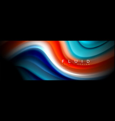 Fluid wave line background or pattern geometric vector