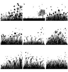 Grass set vector