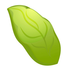 Green leaf icon cartoon style vector