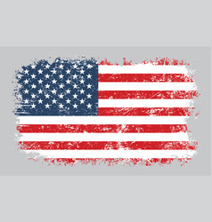 Grunge old american flag vector