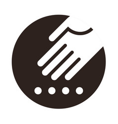 hand planting seeds icon vector image