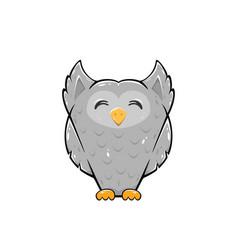 happy owl vector image