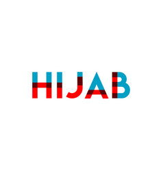 hijab template design vector image