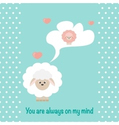 In love Sheep vector image vector image