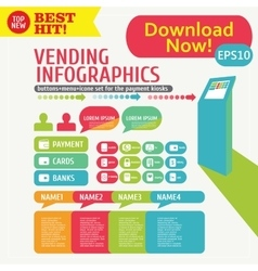 Infographic menu Kiosk Stand vector