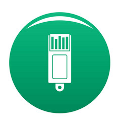 Information usb icon green vector