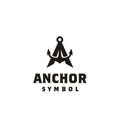 Initial letter a anchor boat ship ship yacht logo vector