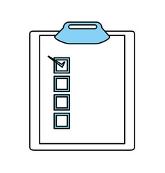 isolated checklist design vector image