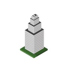 isometric skyscraper vector image