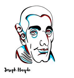 Joseph haydn portrait vector