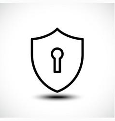 keyhole shield icons on white background vector image