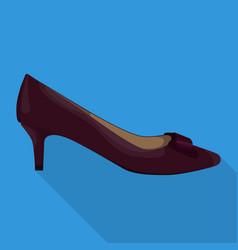 kitten heel woman shoes flat isolated vector image