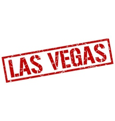 Las Vegas red square stamp vector image