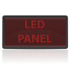 Led panel digital scoreboard vector
