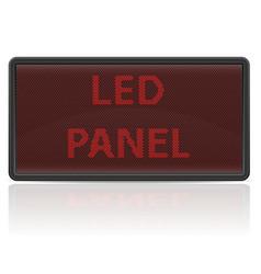 Led panel digital scoreboard vector