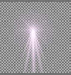 Light with a glare vector