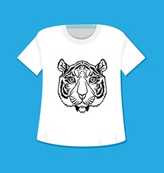 Line Art Tiger vector image
