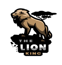 lion king of beasts logo emblem vector image