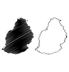 Mauritius island map vector