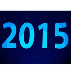New year 2015 on starry sky vector