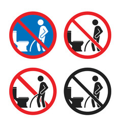 no peeing on floor sign do not pee outside of vector image