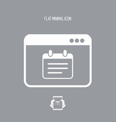 Notepad application - flat minimal icon vector