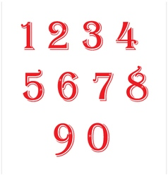Number red vector