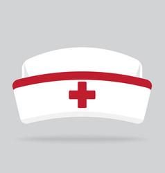 Nurse hat isolated on background vector