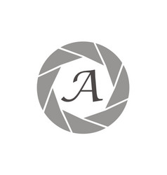 Photography service letter a vector