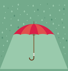 Pink umbrella with rain background vector