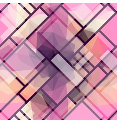 Polygonal pink vector