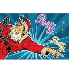 Pop art invitation to a Christmas party vector
