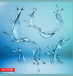 realistic water splash bursts and wave vector image